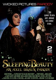 Sleeping Beauty: A Porn Parody, starring Anikka Albrite, Stormy Daniels, Casey Calvert, Riley Steele, Michael Vegas, Jay Crew, Claire Robbins, Mick Blue and Shayla Laveaux, produced by Wicked Pictures.