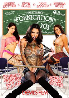 Fornication 101: 4th Semester, starring Edyn Blair, Tori Avano, Bonnie Rotten and Sheena Rose, produced by Devils Film and Devil's Film.