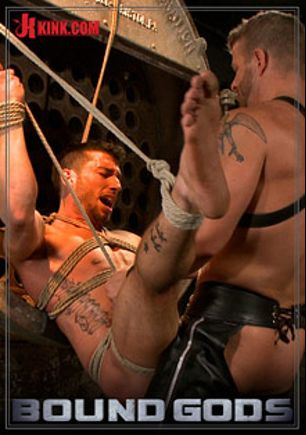 Bound Gods: Straight Stud Taken From His Girlfriend, starring Casey More and Jeremy Stevens, produced by KinkMen.