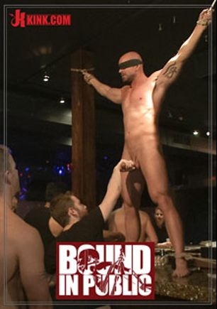 Bound In Public: Muscle Stud Mitch Vaughn Tied Up And Used In A Public Bar, starring Rob Yaeger, Mitch Vaughn and Jeremy Stevens, produced by KinkMen.
