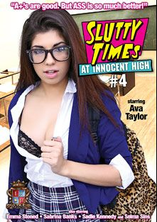 Slutty Times At Innocent High 4, starring Ava Taylor, Emma Stoned, Sadie Kennedy, Selma Sins and Sabrina Banks, produced by Innocent High.