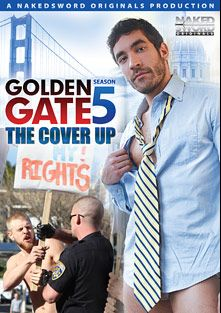 Golden Gate 5: The Cover Up, starring Caleb Colton, Logan Stevens, Tommy Defendi, Brian Yau, DAnimal, J.D. Phoenix, Dale Cooper, Logan Vaughn, Damien Stone, Austin Wilde, Christian Wilde, Scott Cox, Leo Forte, Derrick Hanson and Blake Daniels, produced by NakedSword Originals.