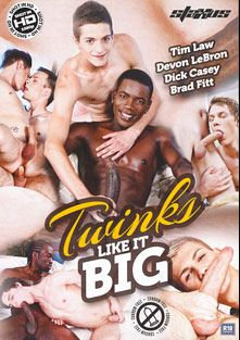 Twinks Like It Big, starring Devon Lebron, Brad Fitt, Dick Casey, Tim Law, Denis Master, Nathan Levi, Xander Hollis, Zac Todd, Will Jones, Tyler Johnson, Ben Fisher and Johnny Cruz, produced by Staxus.