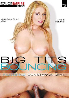 "Adult entertainment movie ""Big Tits Bouncing"" starring Constance Devil, Angie Rain & Sharon Pink. Produced by Gothic Media."