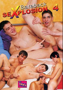 Bareback Sexplosion 4, starring Justin Kingsley, Falco White and Timothy Nixon, produced by Tino Media.