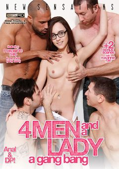 "Adult entertainment movie ""4 Men And A Lady: A Gang Bang"" starring Roxanne Rae, Zoey Monroe & Carlo Carrera. Produced by New Sensations."