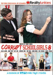 Corrupt School Girls 8, starring Samantha Rone, Kacy Lane, Jenna Ivory, Jillian Janson, Ramon Nomar, Manuel Ferrara, Toni Ribas and Erik Everhard, produced by Reality Junkies and Mile High Media.