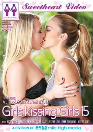 Girls Kissing Girls 15, starring Ryan Ryans, A.J. Applegate, August Ames, Anastasia Morna, Misty Stone, Dana DeArmond, Justine Joli and Sinn Sage, produced by Sweetheart Video and Mile High Media.