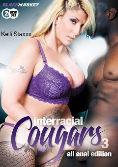 "Adult entertainment movie ""Interracial Cougars 3"" starring Kelli Staxxx, Simone Sonay & Vicky Vixen. Produced by Black Market Entertainment."