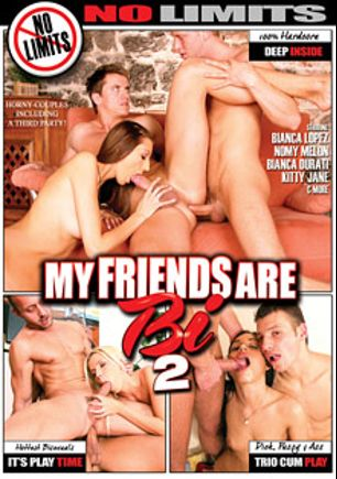 My Friends Are Bi 2, starring Alex Monetti, Ennio Guardi, James Jones, Denis Reed, Bianca Durati, Nomy Melon, Britney (o), Kitty Jane, Juliano, Rafael Angel, Bianca Lopes, Maximus, Daniel Rasek, Bruno, Richard and Mia, produced by No Limits Productions and Mile High Media.
