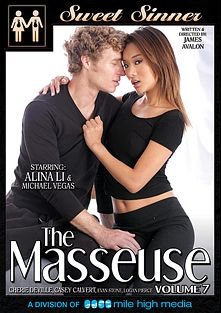 The Masseuse 7, starring Alina Li, Logan Pierce, Casey Calvert, Cherie DeVille, Michael Vegas, Jayden Cole and Evan Stone, produced by Sweet Sinner and Mile High Media.