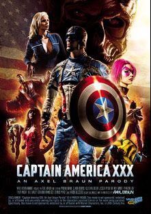 Captain America XXX An Axel Braun Parody, starring Kleio Valentien, Jessica Ryan, Phoenix Marie, Claire Robbins, Giovanni Francisco, Bill Bailey, Ryan Driller, Britney Amber, Aaron Wilcox, Derrick Pierce and Tyler Knight, produced by Vivid XXX Super Heroes and Vivid Entertainment.