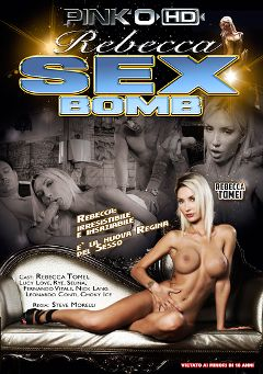 "Adult entertainment movie ""Rebecca Sex Bomb"" starring Rebecca Tomei, Fernando Vitale & Rye. Produced by Pinko Enterprises."