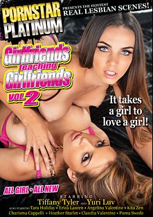 Girlfriends Teaching Girlfriends 2, starring Yurizan Beltran, Tiffany Tyler, Tara Holiday, Kita Zen, Heather Starlet, Charisma Cappelli, Claudia Valentine, Angelina Valentine, Erica Lauren and Puma Swede, produced by Pornstar Platinum.