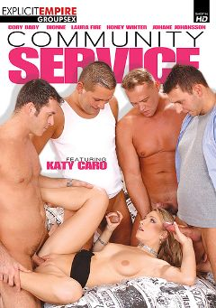 "Adult entertainment movie ""Community Service"" starring Katy Caro, Laura Fire & Johane Johansson. Produced by Sunset Media."