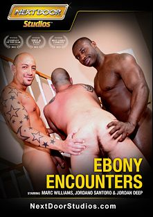Ebony Encounters, starring Jordan Deep, Jordano Santoro, Marc Williams, Yates, Xaniar, Jason Vario, Lawson Kane, Race Cooper, Nubius and Rob Lee, produced by Next Door Studios.