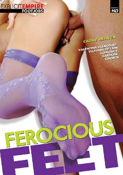 "Adult entertainment movie ""Ferocious Feet"" starring Cathy Heaven, Armania Weiss & Angie Knight. Produced by Sunset Media."