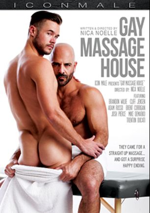 Gay Massage House, starring Brandon Wilde, Adam Russo, Josh Pierce, Trenton Ducati, Cliff Jenson, Brent Corrigan and Mike De Marco, produced by Mile High Media and Iconmale.