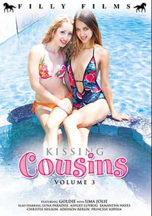 Kissing Cousins 3, starring Miss Goldie, Uma Jolie, Luna Paradise, Samantha Hayes, Princess Sophia, Addison Berlin, Ashley Lovebug and Christie Nelson, produced by Filly Films.