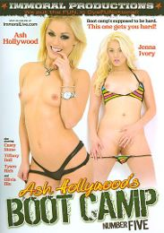 "Featured Studio - Immoral Productions presents the adult entertainment movie ""Ash Hollywood's Boot Camp 5""."