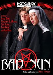 "Exclusive Movies presents the adult entertainment movie ""Bad Nun""."