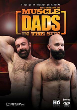 Real Men 32: Muscle Dads In The Sun, starring Scott Reynolds, Brad Kalvo, Victor West, Dean Burke, Shay Michaels, Josh Thomas, Aron Ridge and Scott Mann, produced by Pantheon Productions.