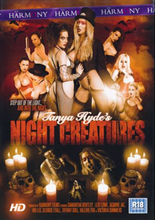 Night Creatures, starring Georgie Lyall, Jasmine Jae, Victoria Summers, Samantha Bentley, Lexi Lowe, Valery Fox, Tiffany Doll, Rio Lee, Luke Hardy, Marc Rose, Mike Angelo, Omar Williams and Clarke Kent, produced by Harmony Films Ltd..