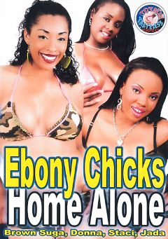"Adult entertainment movie ""Ebony Chicks Home Alone"" starring Jada, Donna & Brown Sugar. Produced by Totally Tasteless Video."
