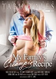 """Featured Category - Cream Pies presents the adult entertainment movie """"My Family's Creampie Recipe""""."""