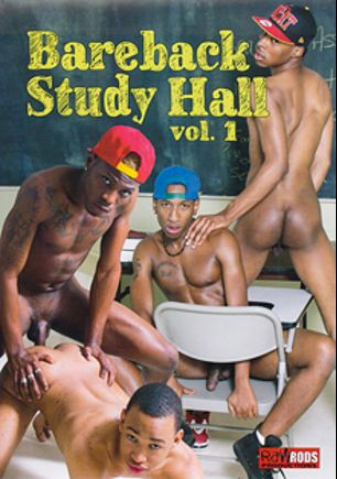 Bareback Study Hall, starring Marco Ashton, Keior Sander, Drummer Boi, Buster, Dwayne and Travis, produced by Raw Rods Productions and Flava Works.