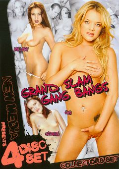 "Adult entertainment movie ""Grand Slam Gang Bangs Part 2"" starring Gi Gi, Anna Pierceson & Veronica. Produced by New Media."