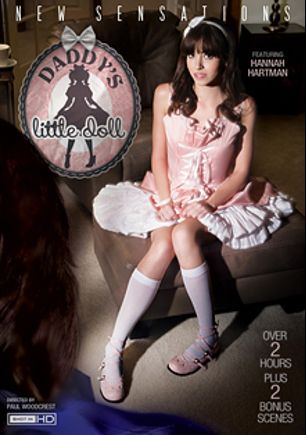 Daddy's Little Doll, starring Hannah Hartman, Yhivi, Jillian Janson, Mark Woods, Tommy Gunn, Alec Knight, Scarlet and Evan Stone, produced by New Sensations.