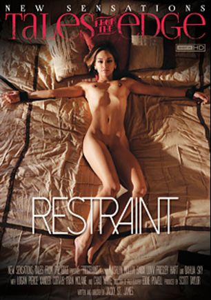 Restraint, starring Ashlyn Molloy, Chad White, Sara Luvv, Logan Pierce, Presley Hart, Dahlia Sky, Ryan McLane and Xander Corvus, produced by New Sensations.
