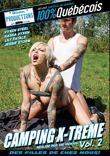 Camping X-Treme 2, starring Sasha Dyxen, Lily Fatale, Jessie Storm and Vyxen Steel, produced by Quebec Productions.