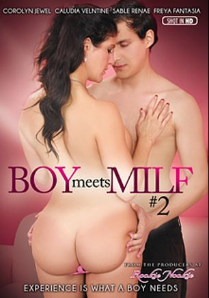 Boy Meets MILF 2, starring Coralyn Jewel, Freya Fantasia, Sable Renne, Sonny Nash and Claudia Valentine, produced by Rookie Nookie.
