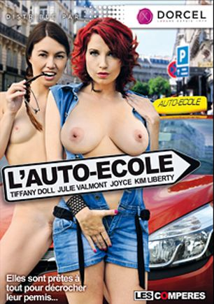 L'Auto-Ecole, starring Tiffany Doll, Kim Liberty, Julie Valmont and Joyce (f), produced by Marc Dorcel.