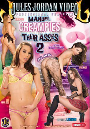Manuel Creampies Their Asses 2, starring Aidra Fox, Klara Gold, Amirah Adara, Jynx Maze and Manuel Ferrara, produced by Jules Jordan Video.