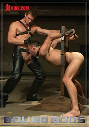Bound Gods: Huge Cock Boy Bound, Beaten And Fucked, starring Connor Maguire and Mike De Marco, produced by KinkMen.