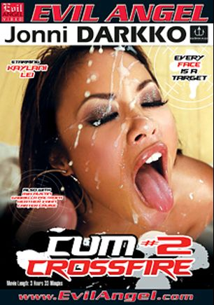 Cum Crossfire 2, starring Kaylani Lei, Mia Austin, Carter Cruise, Gabriella Paltrova, Sheena Shaw, Heather Vahn, Jonni Darkko and Winston Burbank, produced by Darkko Productions and Evil Angel.