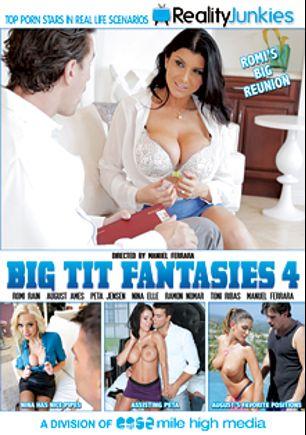 Big Tit Fantasies 4, starring Romi Rain, Peta Jensen, August Ames, Nina Elle, Ramon Nomar, Manuel Ferrara and Toni Ribas, produced by Reality Junkies and Mile High Media.