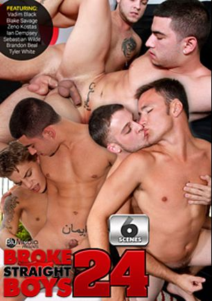 Broke Straight Boys 24, starring Zeno Kostas, Sebastian Wilde, Vadim Black, Ian Dempsey, Brandon Beal, Blake Savage and Tyler White, produced by Brokestraightboys.