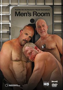 Real Men 33: Men's Room, starring Ron James, Jay Wolf, Marc Adams, Rex Silver, Dean Burke, Dominik August, Josh Thomas, Lobo Al and Clint Taylor, produced by Pantheon Productions.