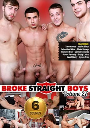 Broke Straight Boys 27, starring Zeno Kostas, Sebastian Wilde, Vadim Black, Blake Savage, Brody Lasko, Connor Chesney, Ronan Kennedy, Ayden Troy, Brandon Beal and David Hardy, produced by Brokestraightboys.