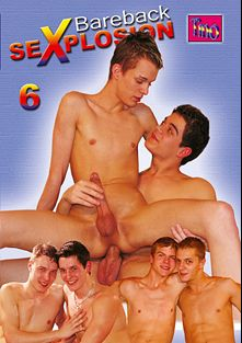 Bareback Sexplosion 6, starring Thomas Jefferson, Lucky Chrebet, Alex Arias and Michael *, produced by Tino Media.