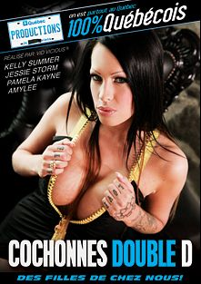 Cochonnes Double D, starring Kelly Summer, Jessie Storm, Amylee and Pamela Kayne, produced by Quebec Productions.