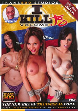 I Kill It TS 3: Colombian Edition, starring Diosa Zazy, Valentina Valencia, China (o), Michelle (o), Paula (o) and Ramon, produced by Trans500 Studios.