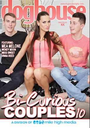 Bi Curious Couples 10, starring Mea Melone, Cristal Caitlin, Shara Jones and Nikki Sweet, produced by Mile High Media and Doghouse Digital.