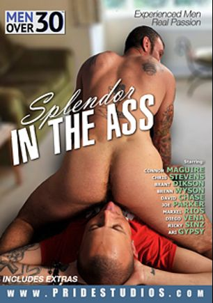 Splendor In The Ass, starring Connor Maguire, Chris Stevens, Ari Gypsy, Marxel Rios, Brant Dickson, Diego Vena, David Chase, Brenn Wyson, Joe Parker and Ricky Sinz, produced by Pride Studios and Men Over 30.