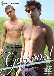 Garcons, starring Damien Esco, Rox Matthews, Billy Rubens, Leo Marco, Brice Farmer and Fred Faurtin, produced by Eurocreme Group and Eurocreme.