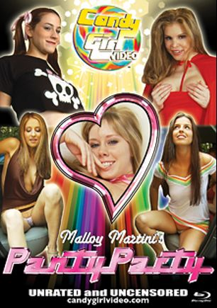 Malloy Martini's Panty Party, starring Malloy Martini, Candle Boxxx, Addie Juniper, Paris Kennedy and Kobe Lee, produced by CandyGirl Video.
